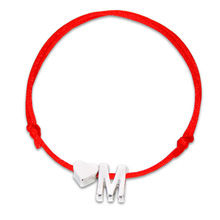Charming letter silver heart shape bracelet for women girl silver adjustable lucky red rope chain men unisex Couple jewelry gift wholesale couples silver heart shape chain design bracelet h367