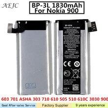 285baf337de BP-3L 1830 mah Para Nokia Lumia 710 510 603 303 603 610 3030 505 610C 900 a  Substituição Da Bateria Para Nokia 900 Batterie bate.