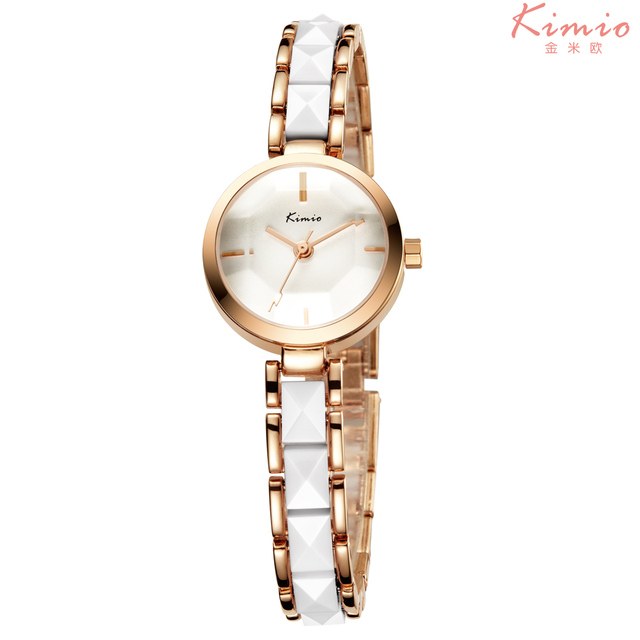 KIMIO Fashion Rose Gold Bracelet Watch Women Quartz Womens Watches Top Brand Lux