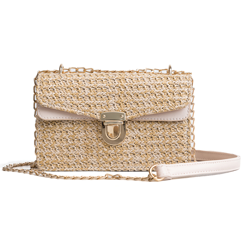 40c147c0d1e8 2018 Bohemian Style Straw Bags for Women Small Beach Handbags Summer  Vintage Rattan Bag Handmade Kintted Crossbody Bag -in Shoulder Bags from  Luggage ...