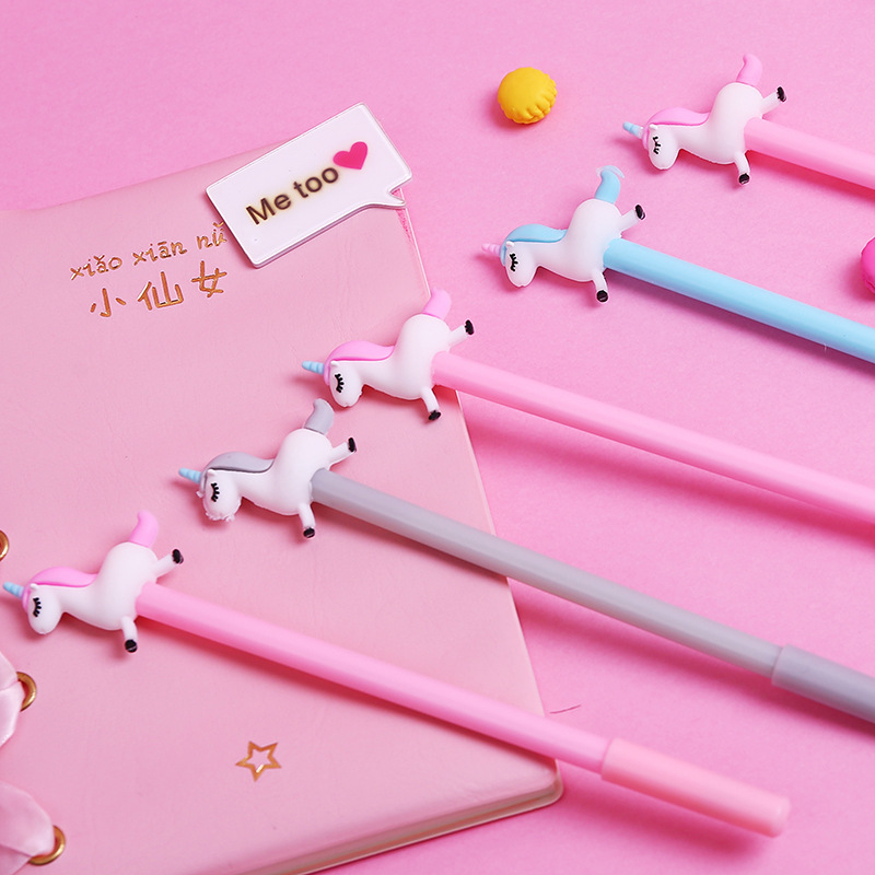 0 5 mm Cute Unicorn Cartoon Gel Pen Promotional Gift Stationery School Office Supply in Gel Pens from Office School Supplies