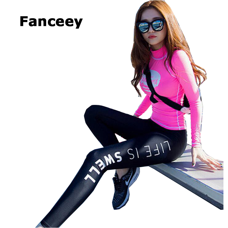 2017 Women Running Sets Yoga Clothing Suit Female Compression Tights Fitting Sportswear Gym Clothes Cycling Jereys