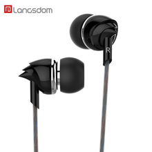 Фотография Langsdom Earphone 3.5mm Plug Super Bass Wired Earbuds In-ear Stereo Music Auriculares with Microphone for Android and IOS Phone