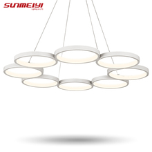Moderne led pendentif lumière pour la cuisine salle à manger blanc pendentif lampe led éclairage plafond lampe luminaires suspension suspendus