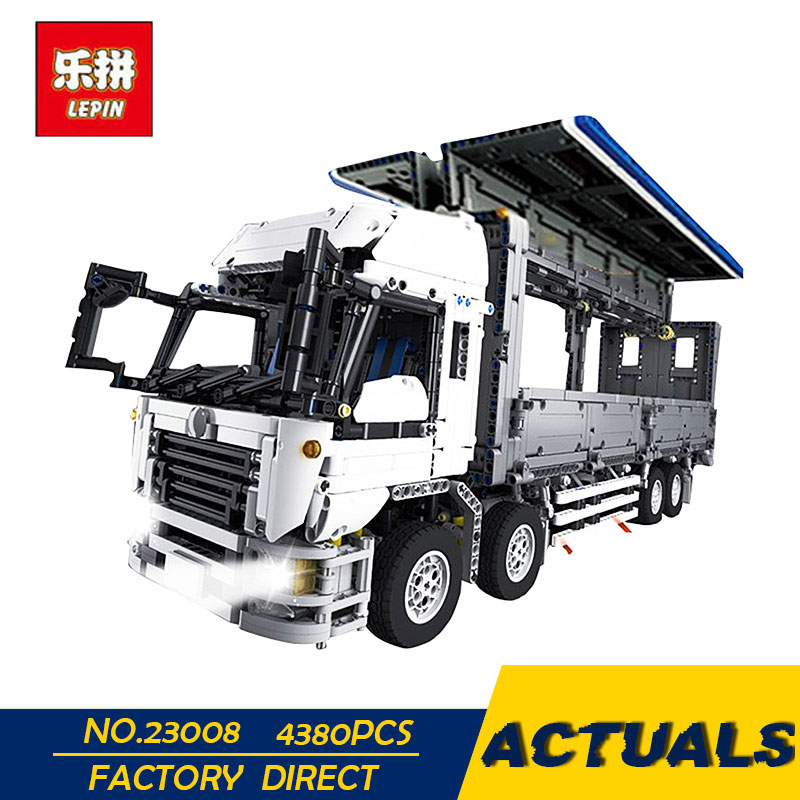 LEPIN 23008 4380Pcs Technical Series The MOC Wing Body Truck Set 1389 Educational Toys Building Block Bricks to Children Gift 23008 4380pcs technical series the moc wing body truck set compatible with 1389 educational building blocks children toys