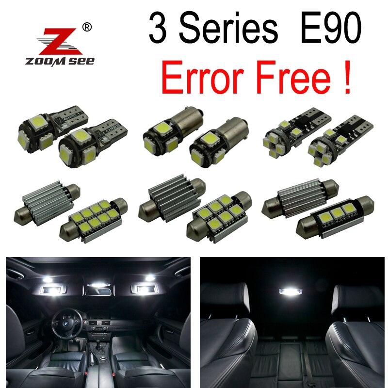17pc X Error free E90 LED Interior Light Kit for 2006-2012 bmw E90 325i 328i 330i Sedan ONLY спойлер bmw e90 318i 320i 325i 330i m3
