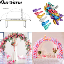 OurWarm DIY Balloon Arch Kit Balloons Column Stand With Frame Stick Plastic Metallic Chain Wedding Birthday Party Decor