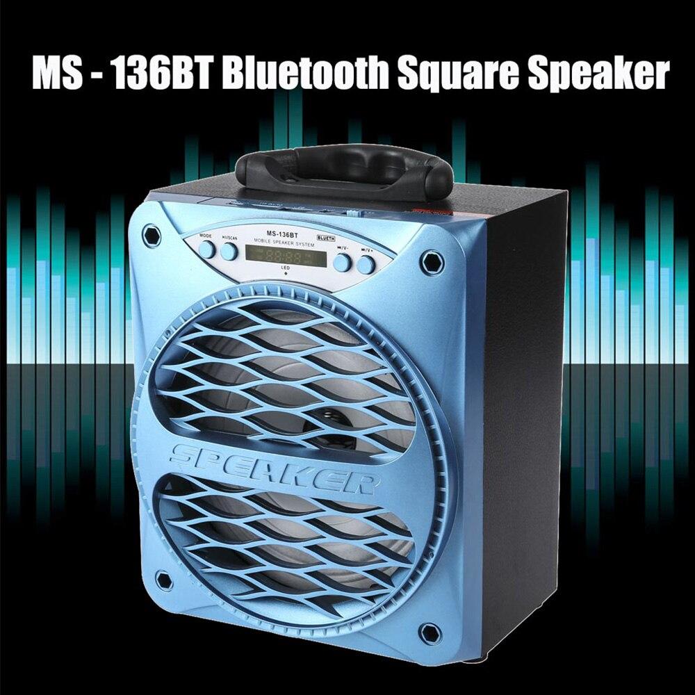 multifunctional ms 136bt portable bluetooth speaker wireless outdoor subwoofer music box. Black Bedroom Furniture Sets. Home Design Ideas