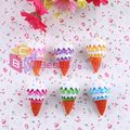 Free Shipping 10Pcs/Lot 38*25mm Mixed Colors Puffed Rice Cone Pendant For Summer Holiday Necklace Pendant Making