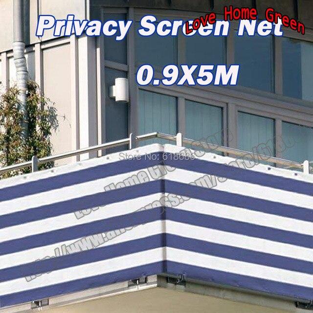 Blau Weiss 0 9x5 Mt Gestreiften Sichtschutz Net Markise Zaun Fur Deck Terrasse Balkon Veranda In Blau Weiss 0 9x5 Mt Gestreiften Sichtschutz Net