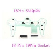 10 takım denetleyici onarım parçaları PCB şerit devre 18Pin SA1Q42A için PS2 Dualshock 2 w/ 18pin veya 19Pin soketli konnektör