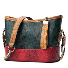 2019 NEW Fashion women Shoulder Bag PU leather serpentine pattern leather tote bag large capacity casual ladie shoulder bags стоимость