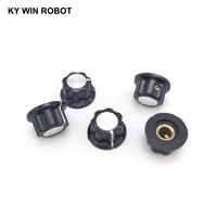potentiometer knob 5pcs/lot MF-A01 A01 Potentiometer Knob Cap Inner 6mm 20x12mm Rotary Switch Bakelite Knob copper core inner for WHT118 WX050 (2)