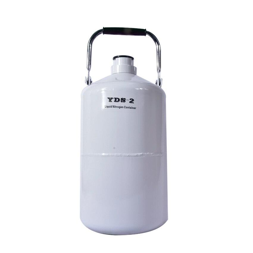 Récipient d'azote liquide d'alliage d'aluminium de 2L YDS-2 liquide d'azote liquide de Dewar nitrogenio