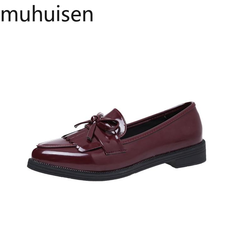 Calzado Las Zapatos Plano De Mujeres Casual 1 Moda 2019 Tacón Oxford Bowtie Zapato Plataforma Otoño 2 Ancho 3 Bajo Mujer zw65xqxS