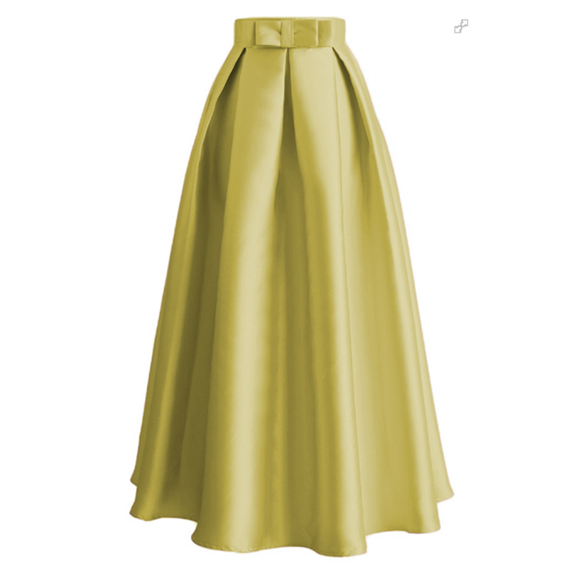 Plus Size Skirts Faldas Mujer Moda 19 Abaya Dubai Turkish Long Pleated Maxi High Waist Skirt Women Jupe Longue Femme Skirts 22