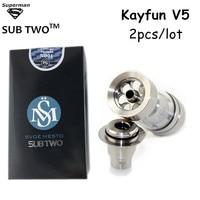 2pcs Lot High Quality Kayfun V5 RDA Atomizer Vs Kayfun Mini V3 Airflow Control Rebuildable Big