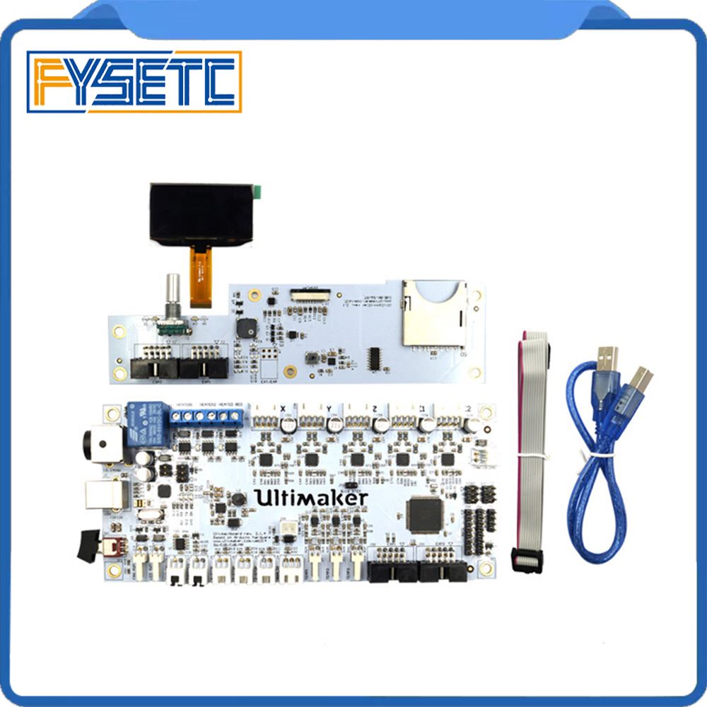 Ultimaker V2.1.4 Mainboard con pantalla OLED kit UM2 controlador inteligente placa de circuito placa madre PCB panel de control electrónico