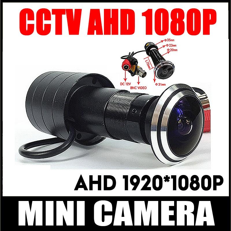 1080 P porte oeil trou AHD Mini judas Fisheye caméra SONY IMX323 2MP capteur StarLight 0.001Lux 170 degrés caméra de Surveillance