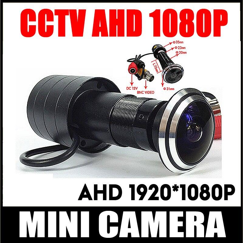 1080P дверной глазок отверстие AHD мини глазок рыбий глаз камера SONY IMX323 2MP сенсор StarLight 0.001Lux 170 градусов камера наблюдения