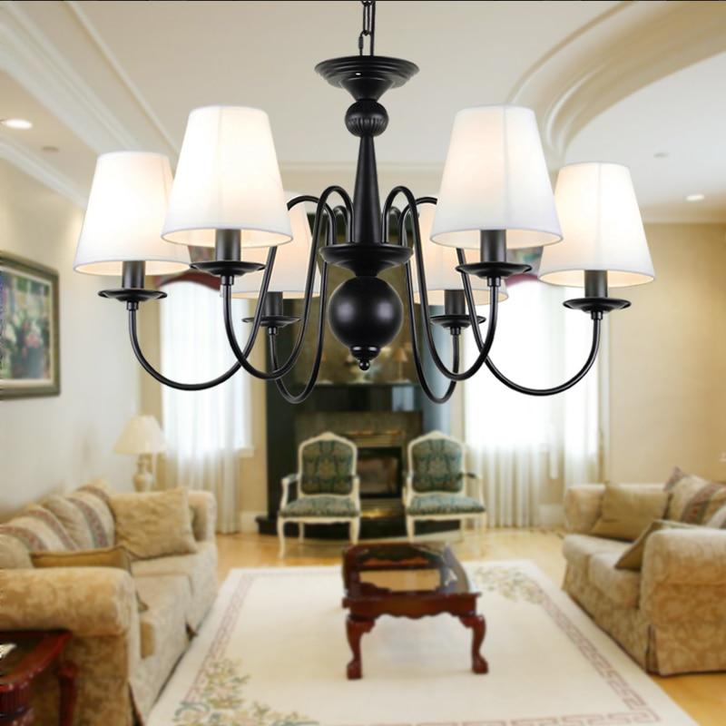 Lustre européen moderne Lustre de plafond E14 lampe de ampoule LED