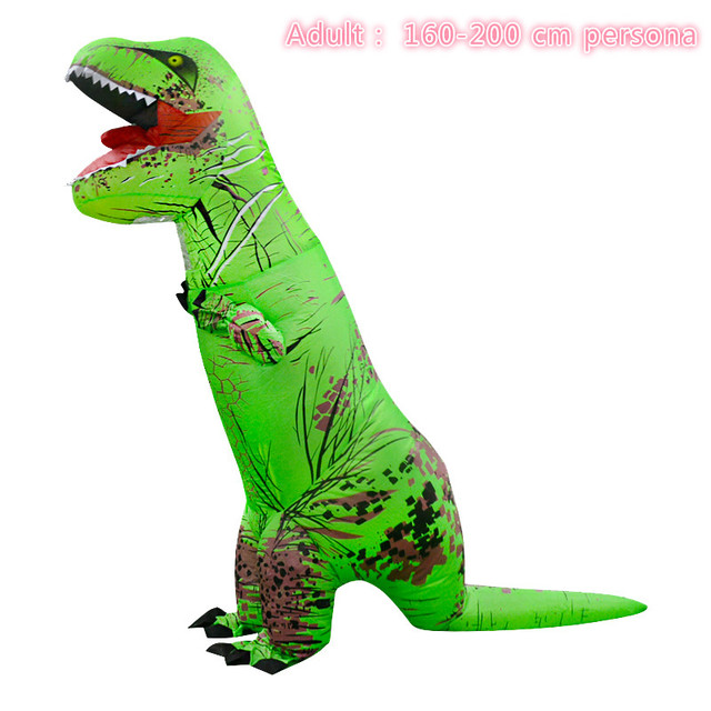 Jurassic World T Rex Costume Inflatable Cosplay Toy Dino T Rex