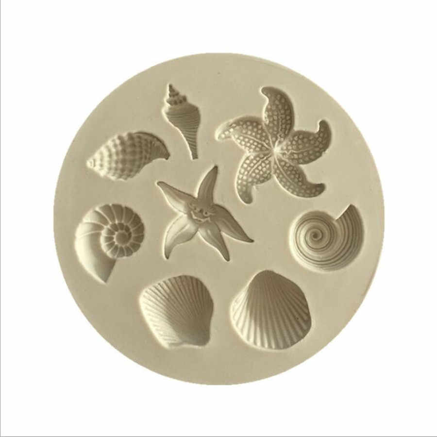 1Pc Ocean Biological Conch Sea Shells Chocolate Cake Silicone Mold DIY Chocolate Mold Kitchen Liquid Cake Tools