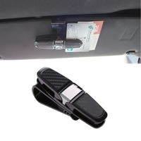 1Pc Car   Auto   Sun Visor Glasses Sunglasses Card Ticket Holder Clip Universal Black