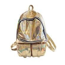 Новинка 2017 лазерная сумка рюкзак школьный, для мужчин и женщин прямое Бесплатная доставка