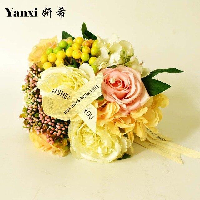 aliexpress: acheter fleurs de mariage nuptiale bouquets de