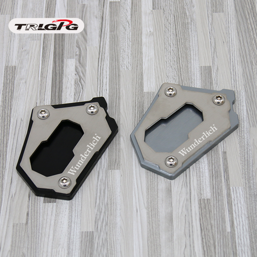 CNC Motorcycle Side Crutch Stand Extension Plate Enlarge For BMW R1250GS 2018 R1200GS Rally 2016-2018 R1200GS LC ADV F750GS F850