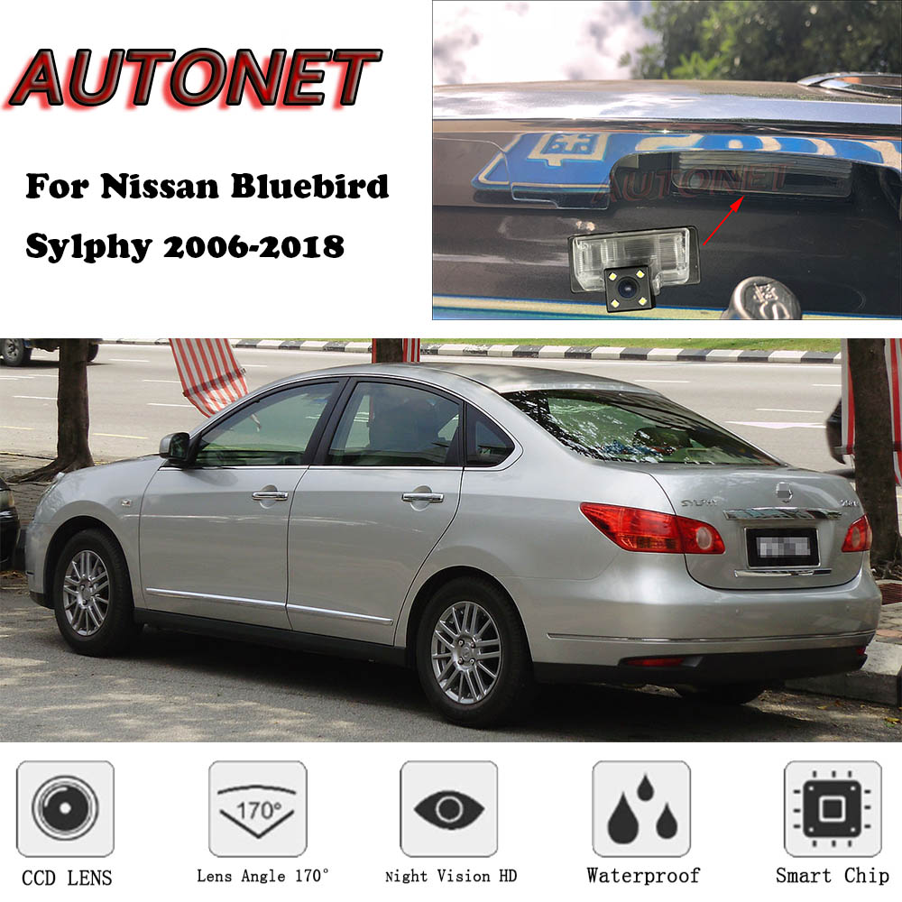 AUTONET Backup Rear View Camera For Nissan Bluebird Sylphy 2006~2018  CCD/Night Vision/parking Camera