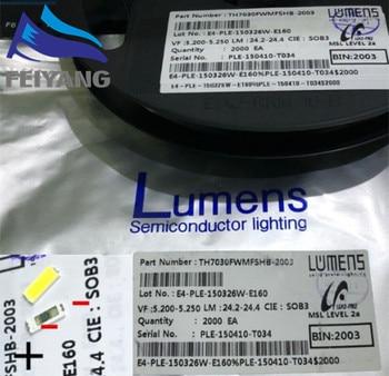 500 шт. люменов светодиодный ная подсветка 1 Вт 6 в 7030 холодный белый ЖК Подсветка для ТВ Приложение