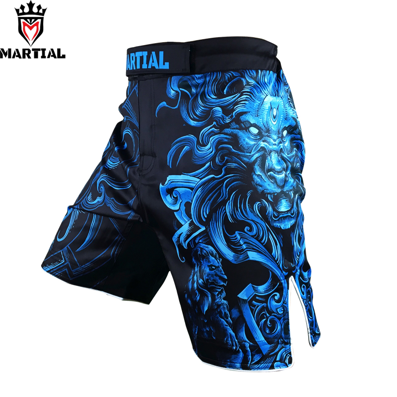 Martial :Leo Sublimation design black kick boks shorts muay thai short men bjj trunks polyester grappling pants