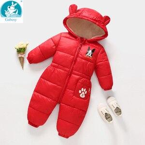 Image 2 - Russische Herfst Winter Pasgeboren Baby Kleding Jumpsuit Warm Jongens Snowsuit Voor Kinderen Hooded Overalls Voor Meisjes Unisex Baby Romper