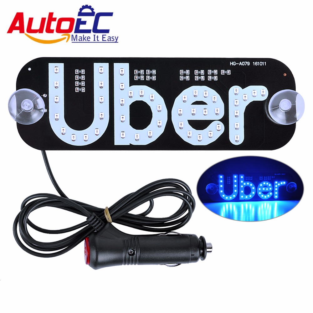 AutoEC 10x Uber panel light 12V Taxi Top Light New LED Roof Car Super Bright LED Light with Cigarette lighter #LQ671 toyl taxi cab roof light with magnetic base sign dc 12v yellow light