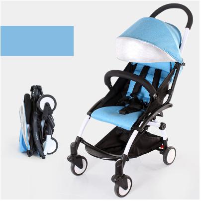Design de moda poussette skyblue carrinhos portátil barato cadeira de rodas dobrável carrinho de Bebê Carrinho De Criança carrinho de Luz dobrável durável