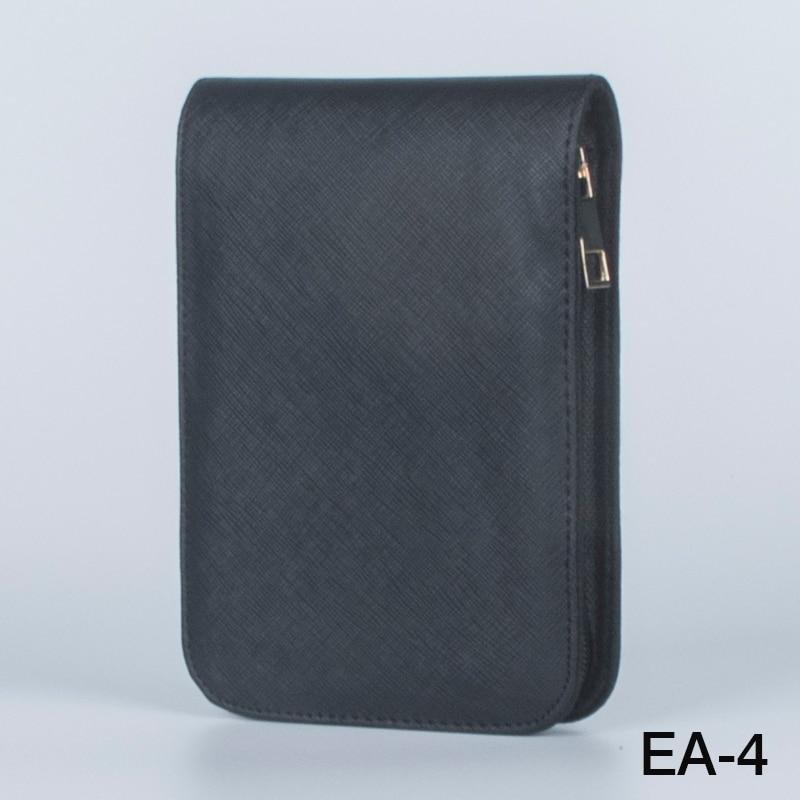 Fountain Roller Ball Pen Case Holder PU Leather Bag for 12 Pens Color Black цены