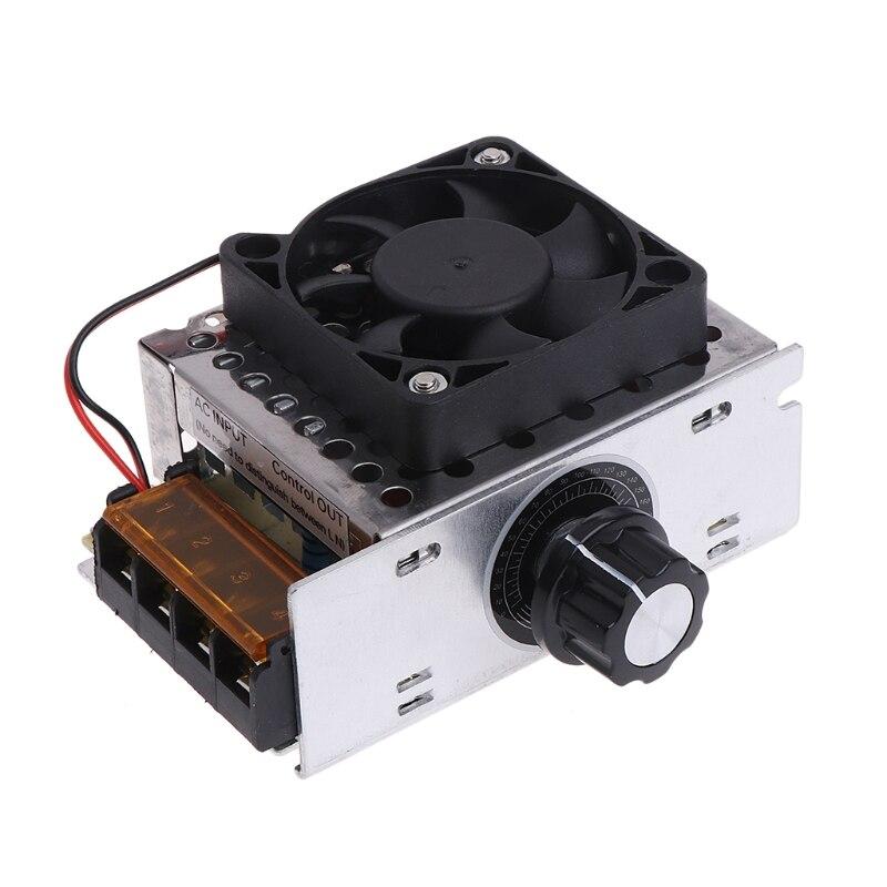 Регулятор напряжения переменного тока 220 В 4000 Вт SCR, регулятор скорости двигателя, контроллер, вентилятор, инструмент LS'D