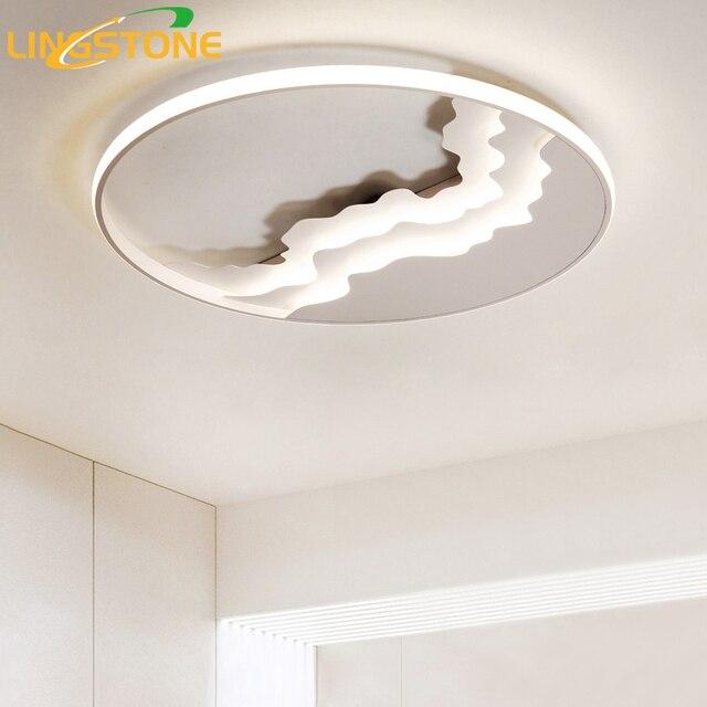 41544b6c95a8 Modern Flush Mount Ceiling Light Ultra Thin Led Ceiling Lighting Remote  Control Ceiling Lamp for Living Room Bedroom Kids Room