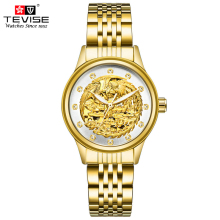 TEVISE Women Luxury Gold Phoenix Automatic Mechanical