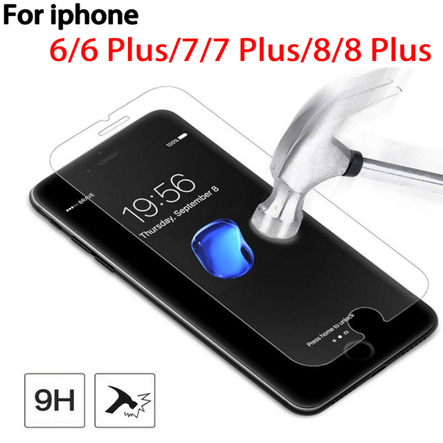 9H screen Tempered Glassr For iPhone6 7 8 6plus 7plus 8plus Tempered Glass On The For iPhone 6 7 8 678Plus Protective Glass Film