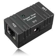 10/100 mbp passiva poe dc power over ethernet RJ 45 injector divisor adaptador de montagem na parede para câmera ip rede lan 1 pc