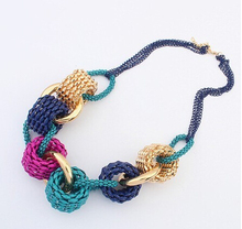 Fashion Circles Handmade Big Necklace Chunky Chain Women Choker Wide Maxi Collar Statement Necklaces 2018 Big Jewelry Wholesale