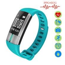 ZUCOOR Smart Bracelet Band Cardiaco Monitor RB47 Pulse Ring ECG PPG Erkek Kol Saati Sports Fitness Blood Pressure Meter Pk Xaomi