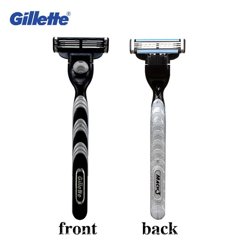 Gillette Mach 3 Razor Safety Mens Beard Shavers Razor Face Care Shaving 1 Holder 1 Blade + 1 Razor Box Travel Storage Case