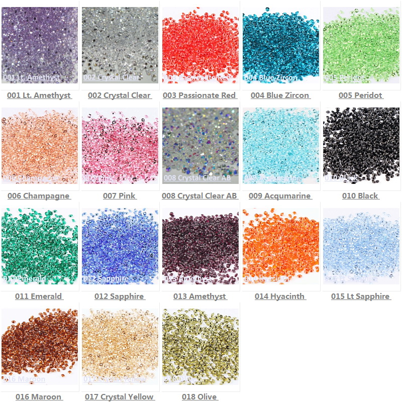 Tiny Mini Crystal Pixie Micro 1.1-1.3mm Mini Nail Arts Rhinestones - Արվեստ, արհեստ և կարի - Լուսանկար 3