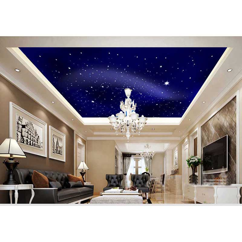 2016 New 3d Star Sky Luxury Home Decor Wall Paper Ceiling Mural Wallpaper For Bedroom Living