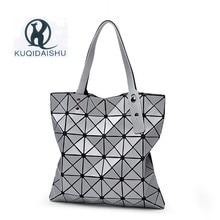 Лидер продаж Топ-ручка сумки Bao Для женщин сумка телефон сумка хозяйственная плеча Геометрическая складной посылка bolsa feminina цепи