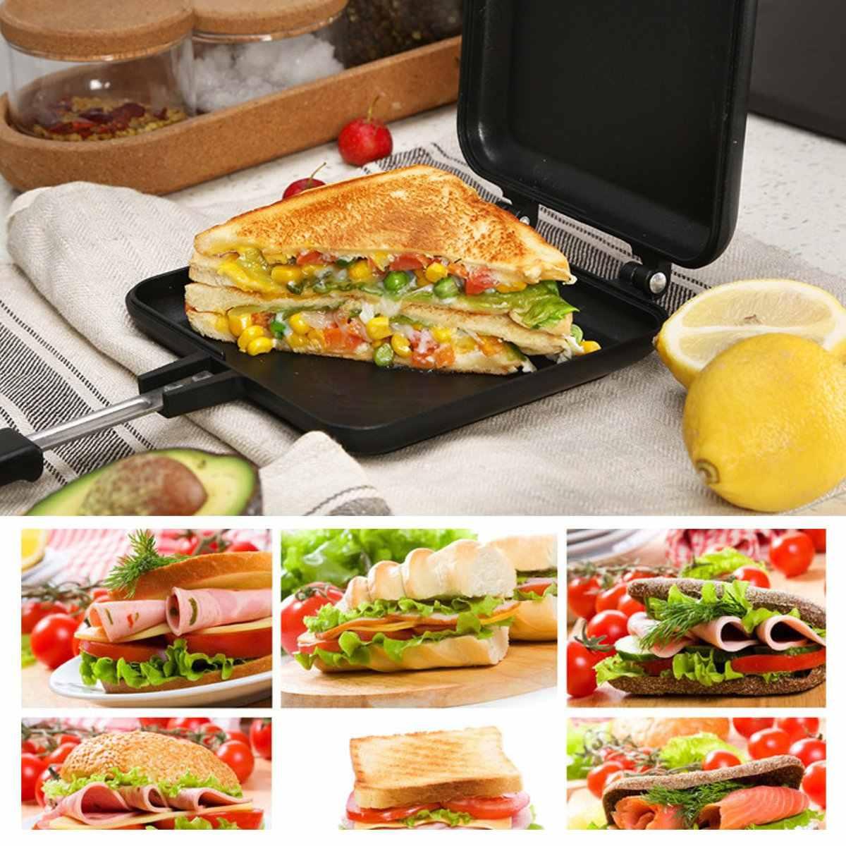 Máquina de sándwich antiadherente de doble cara pan tostado máquina de desayuno gofre tortita cocción barbacoa molde de horno sartén para asar a la parrilla
